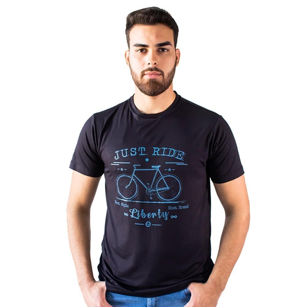 T-Shirt Masculina Malha Estampa Bicicleta Manga Curta Anticorpus