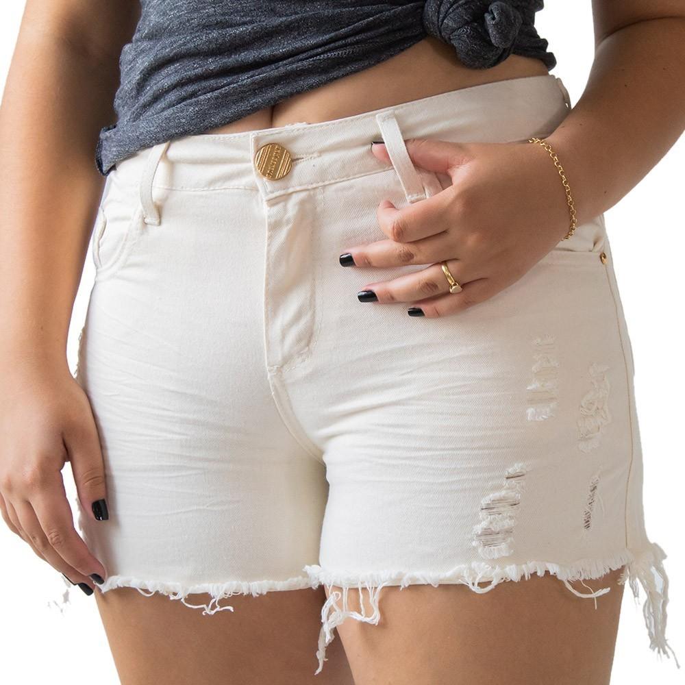 Short Boyfriend Destroyed Jeans Bege Anticorpus