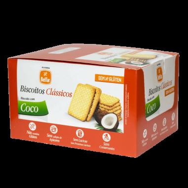 Biscoito Clássico Coco Belfar 28,7g - Display com 10 Unidades