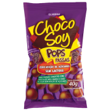Choco Soy Pops Passas 40g