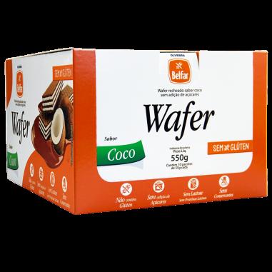Wafer sabor Coco 55g - Display com 10 Unidades