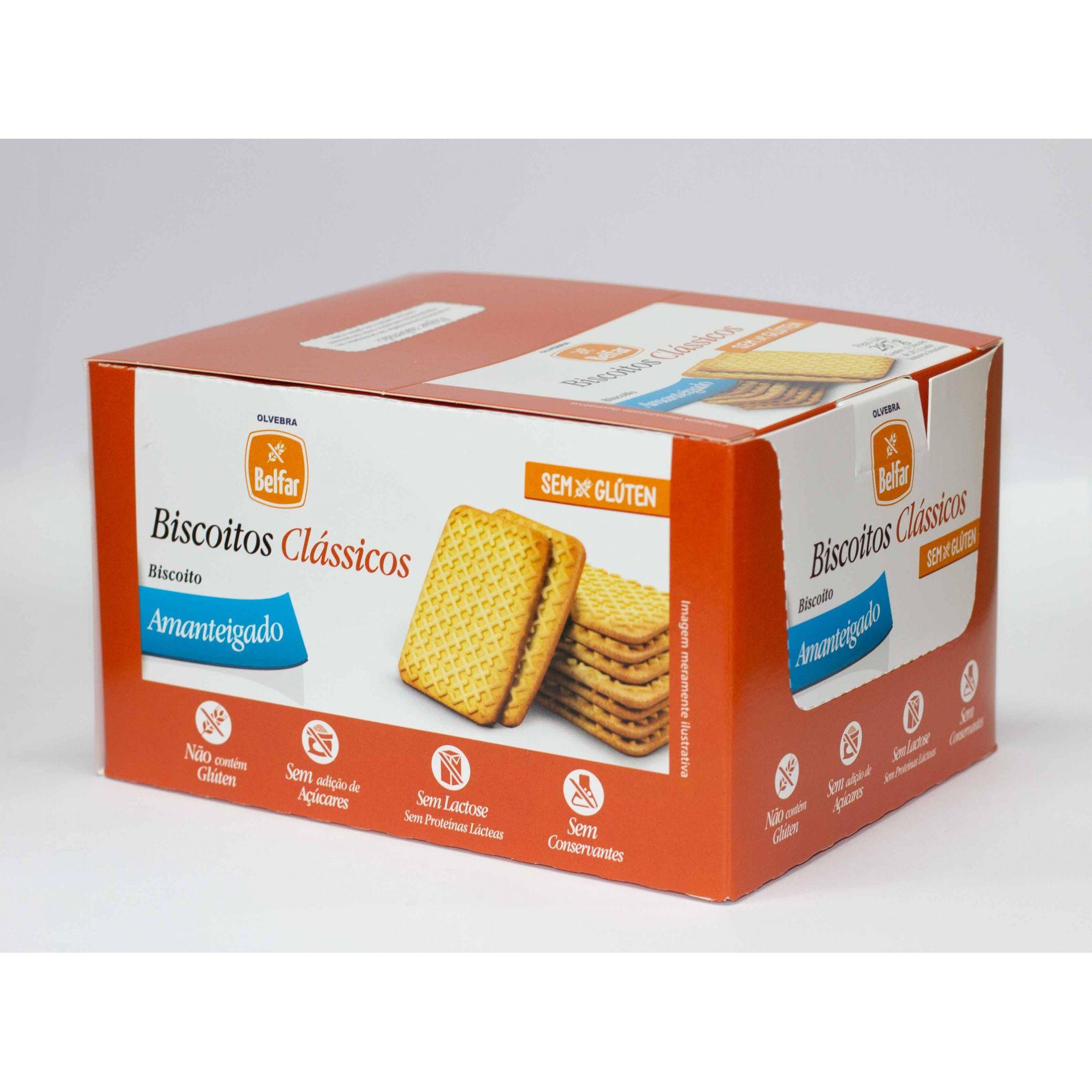 Biscoito Clássico Amanteigado Belfar 28,7g - Display com 10 Unidades