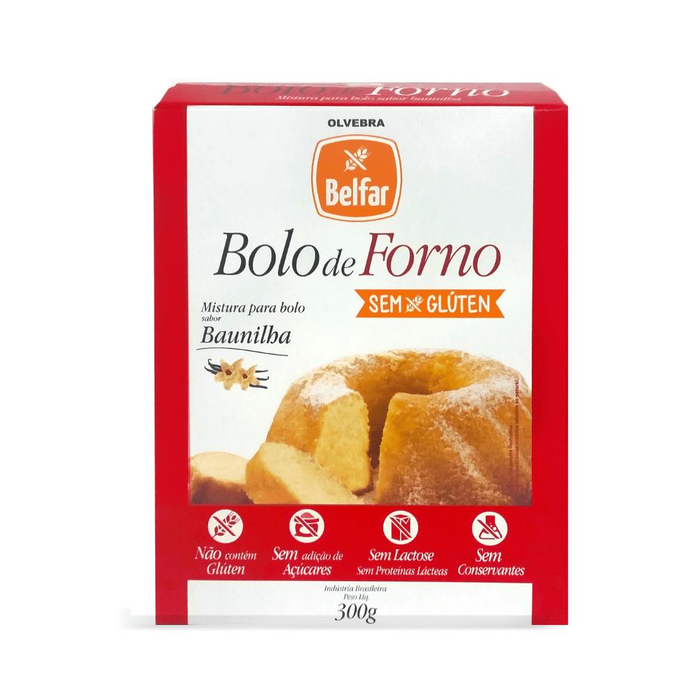 Bolo de Forno Belfar sabor Baunilha 300g