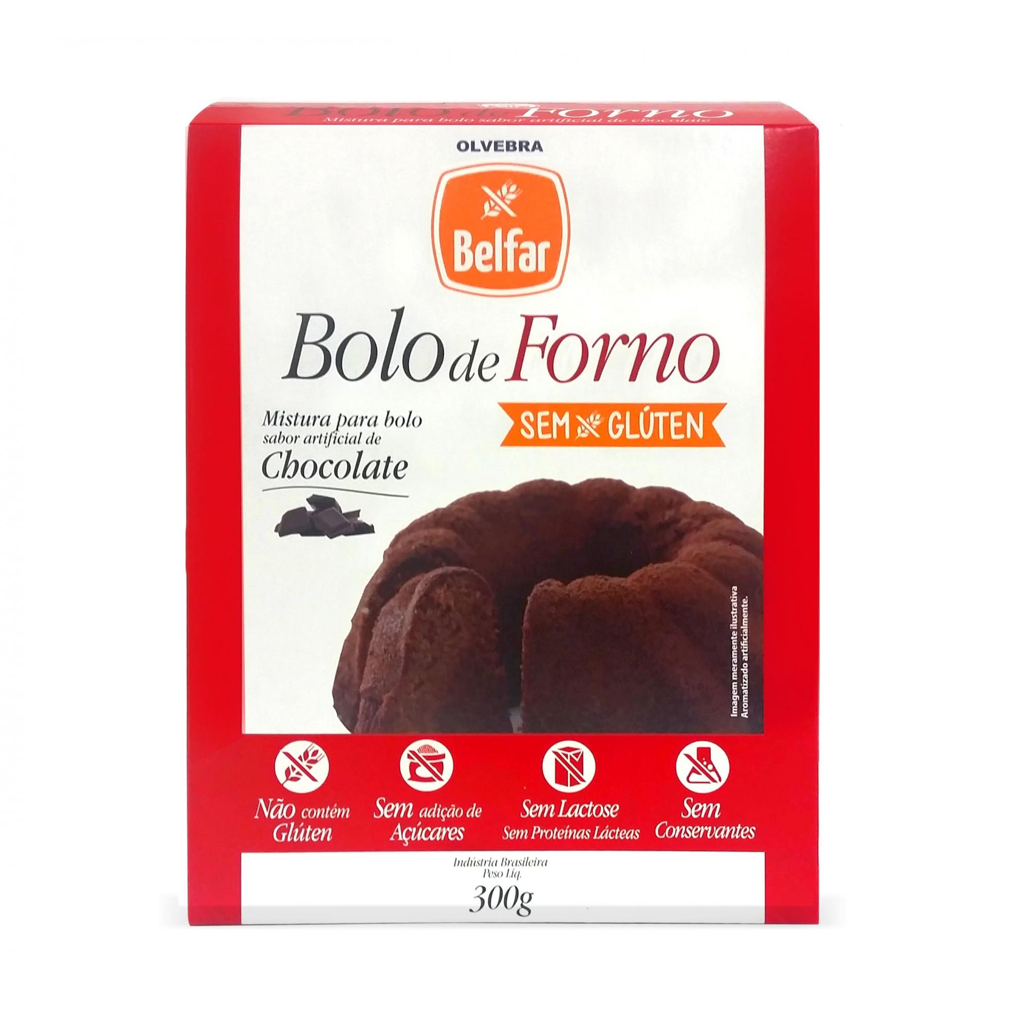 Bolo de Forno Belfar sabor Chocolate 300g