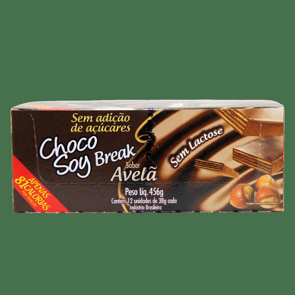 Choco Soy Break Avelã 38g - Display com 12 Unidades