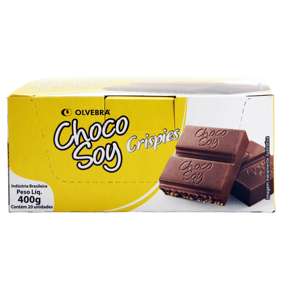 Choco Soy Crispies 20g - Display com 20 Unidades