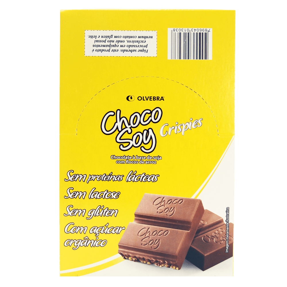Choco Soy Crispies 20g - Display com 20 Unidades