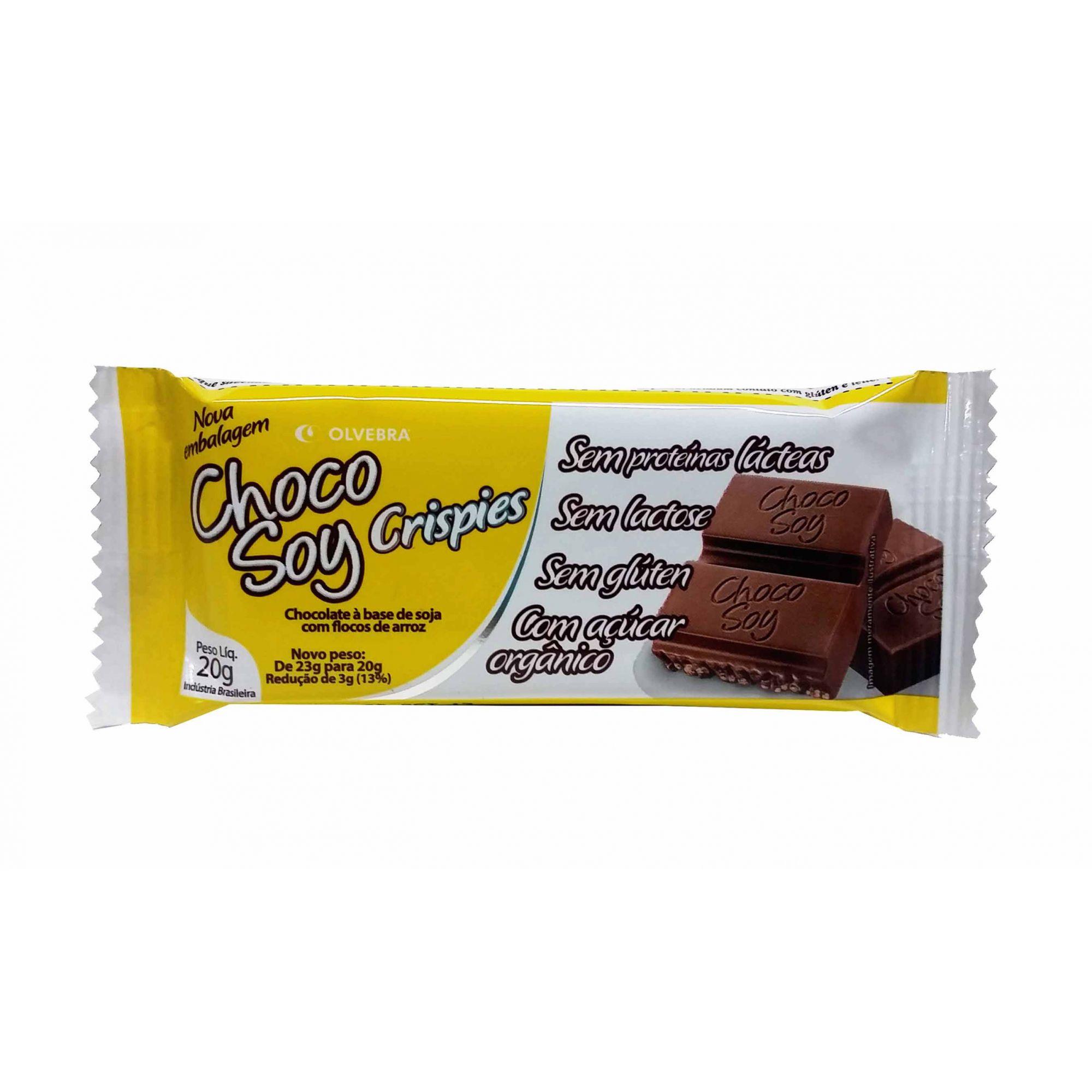 Choco Soy Crispies Barra 20g