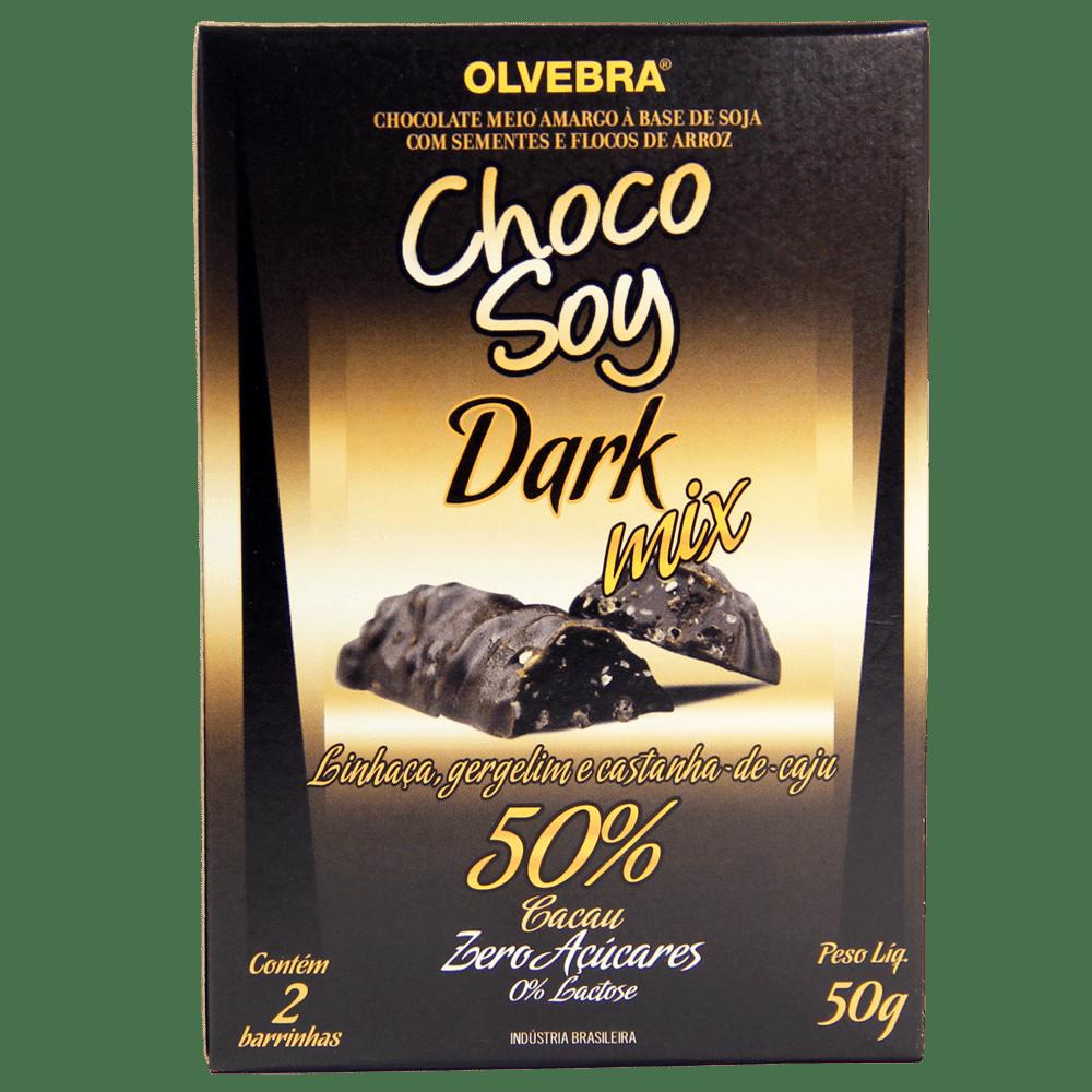 Choco Soy Dark Mix 50g - Conjunto com 2 Unidades de 25g