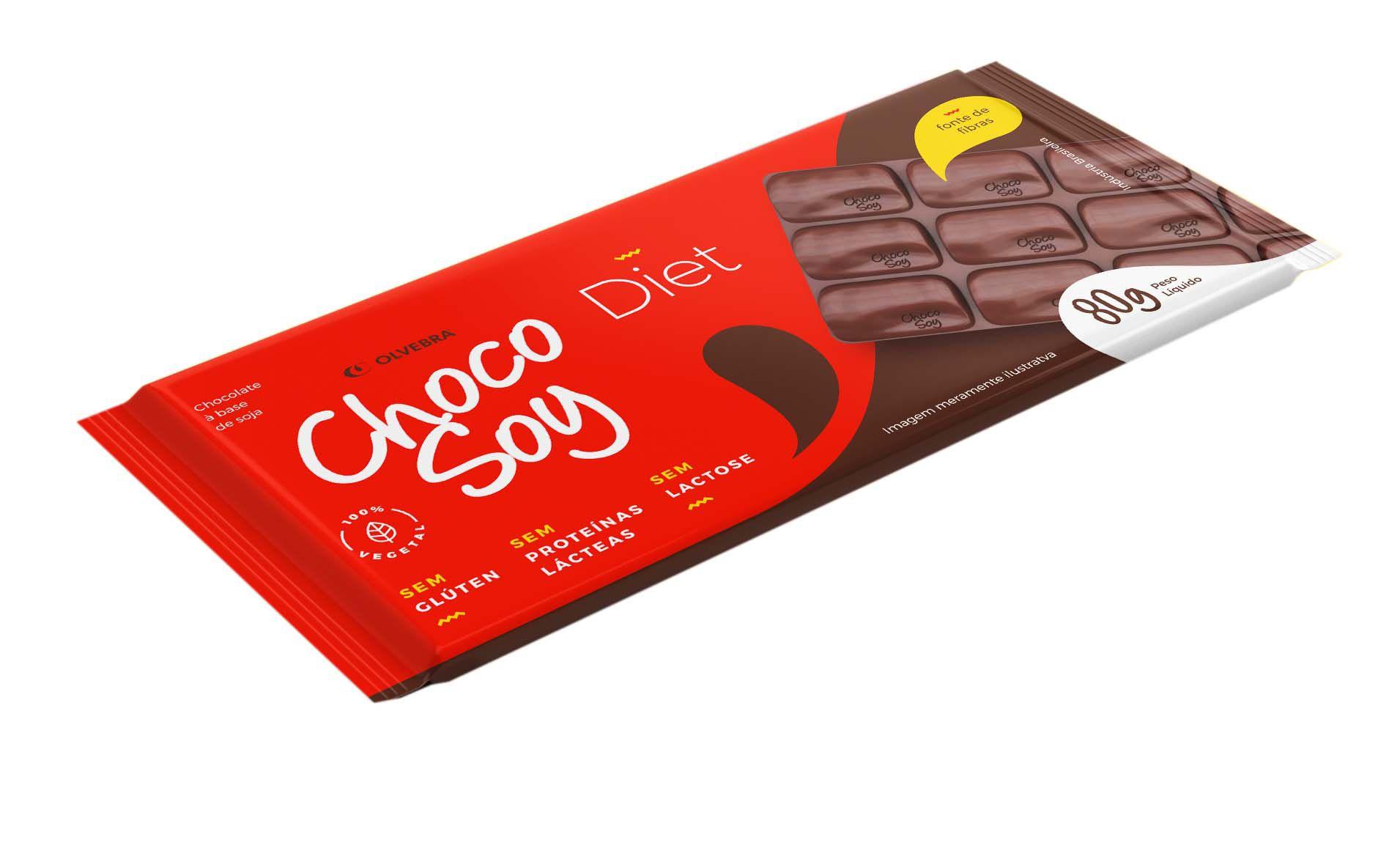 Choco Soy Diet Barra 80g