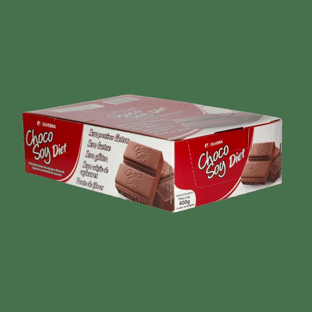 Choco Soy Diet Barra 20g - Display com 20 Unidades