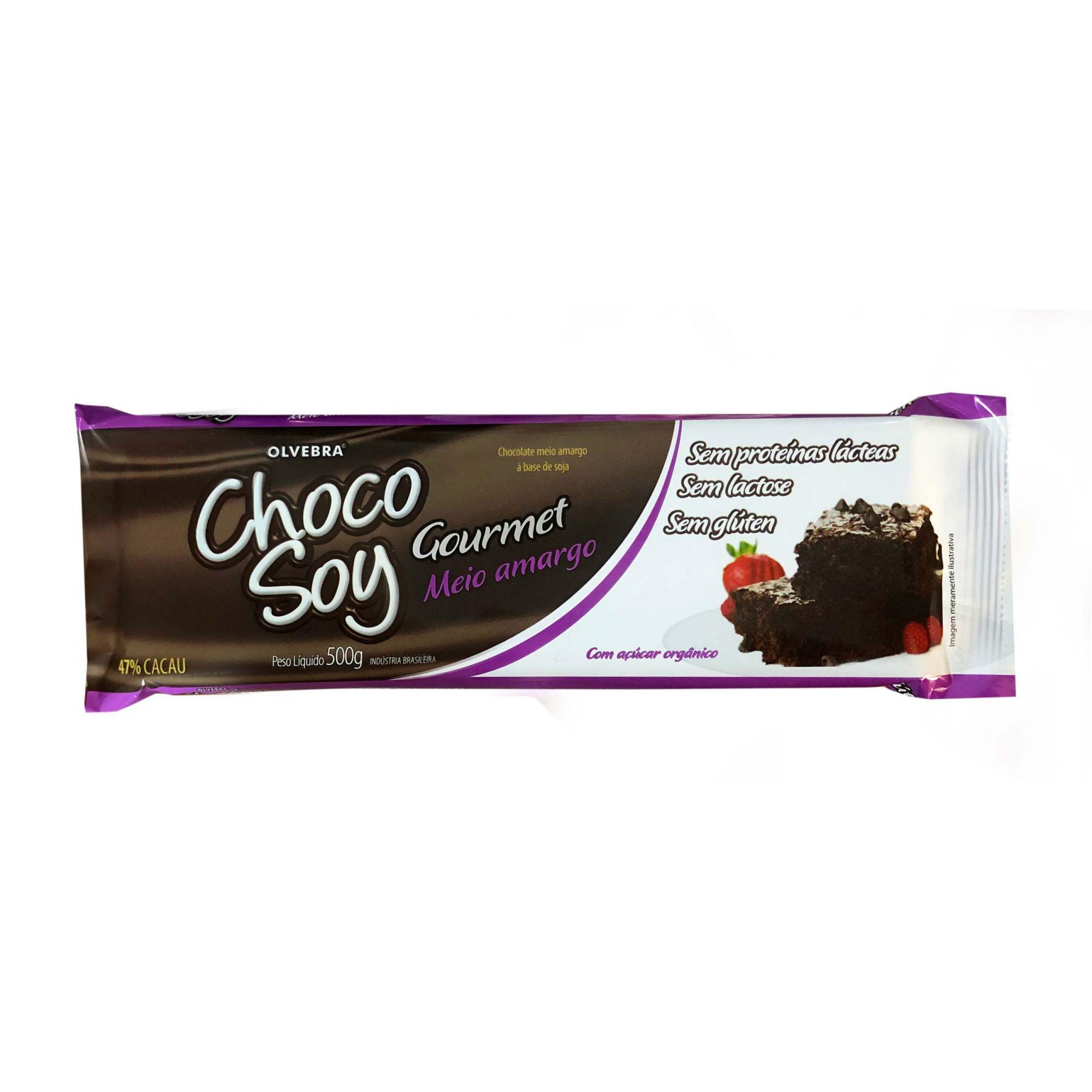 Choco Soy Gourmet Meio Amargo 500g