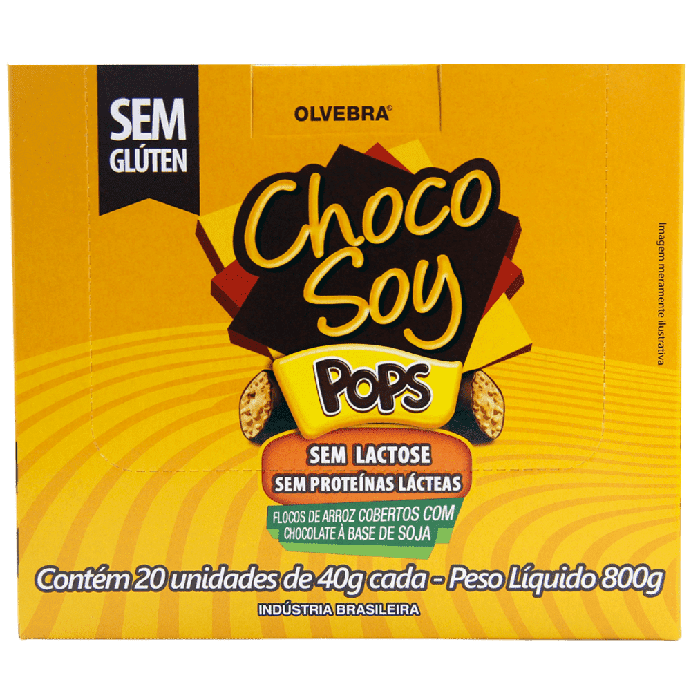 Choco Soy Pops 40g - Display Com 20 Unidades