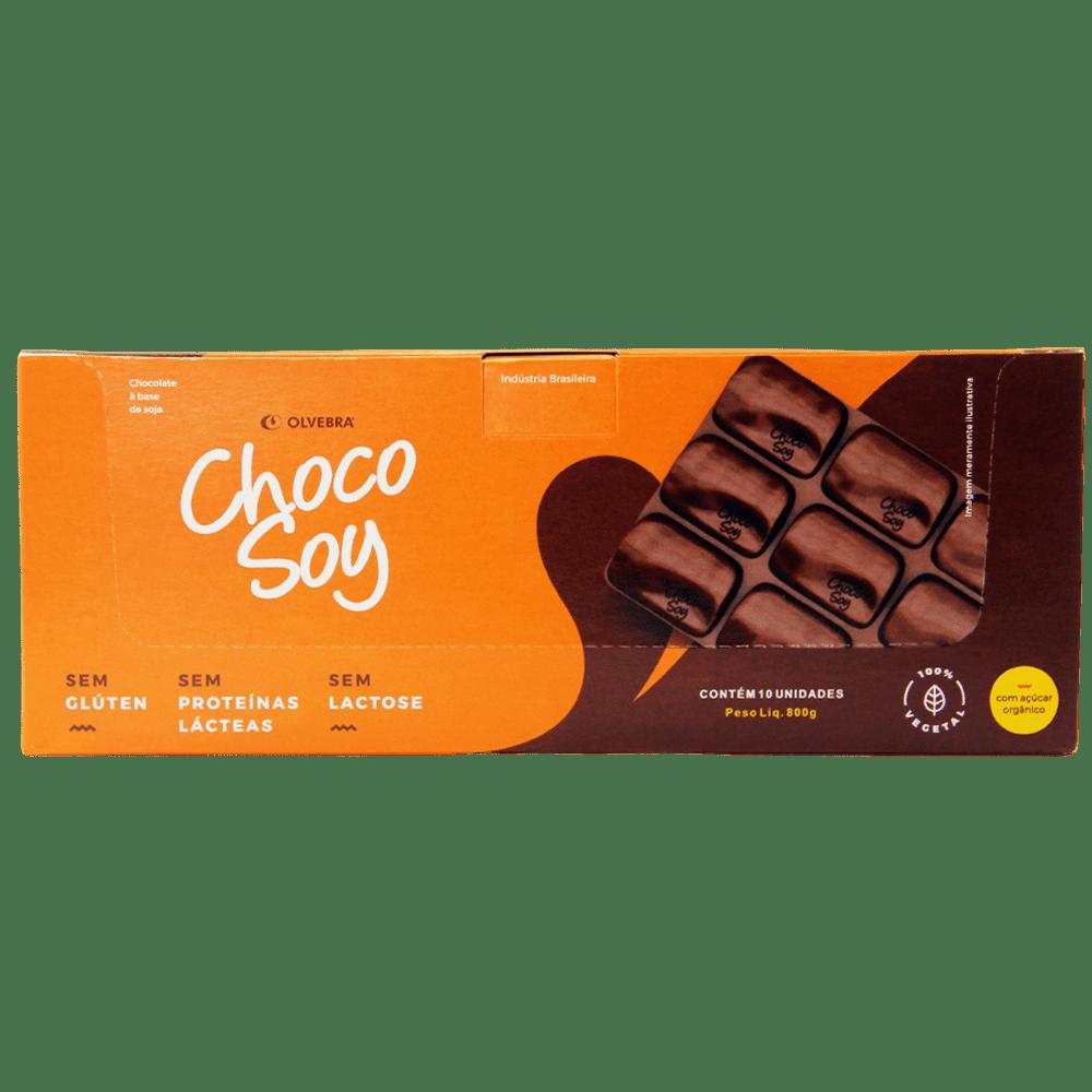 Choco Soy Tradicional Barra 80g - Display com 10 Unidades