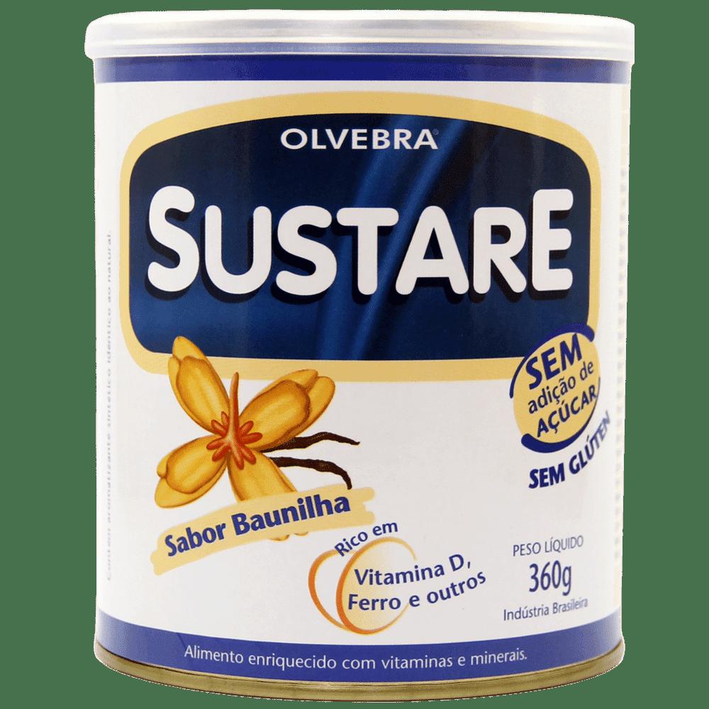 Kit c/ 4 un. Sustare Baunilha 360g Sem Açúcar (SOMENTE PARA PESSOA FISICA)