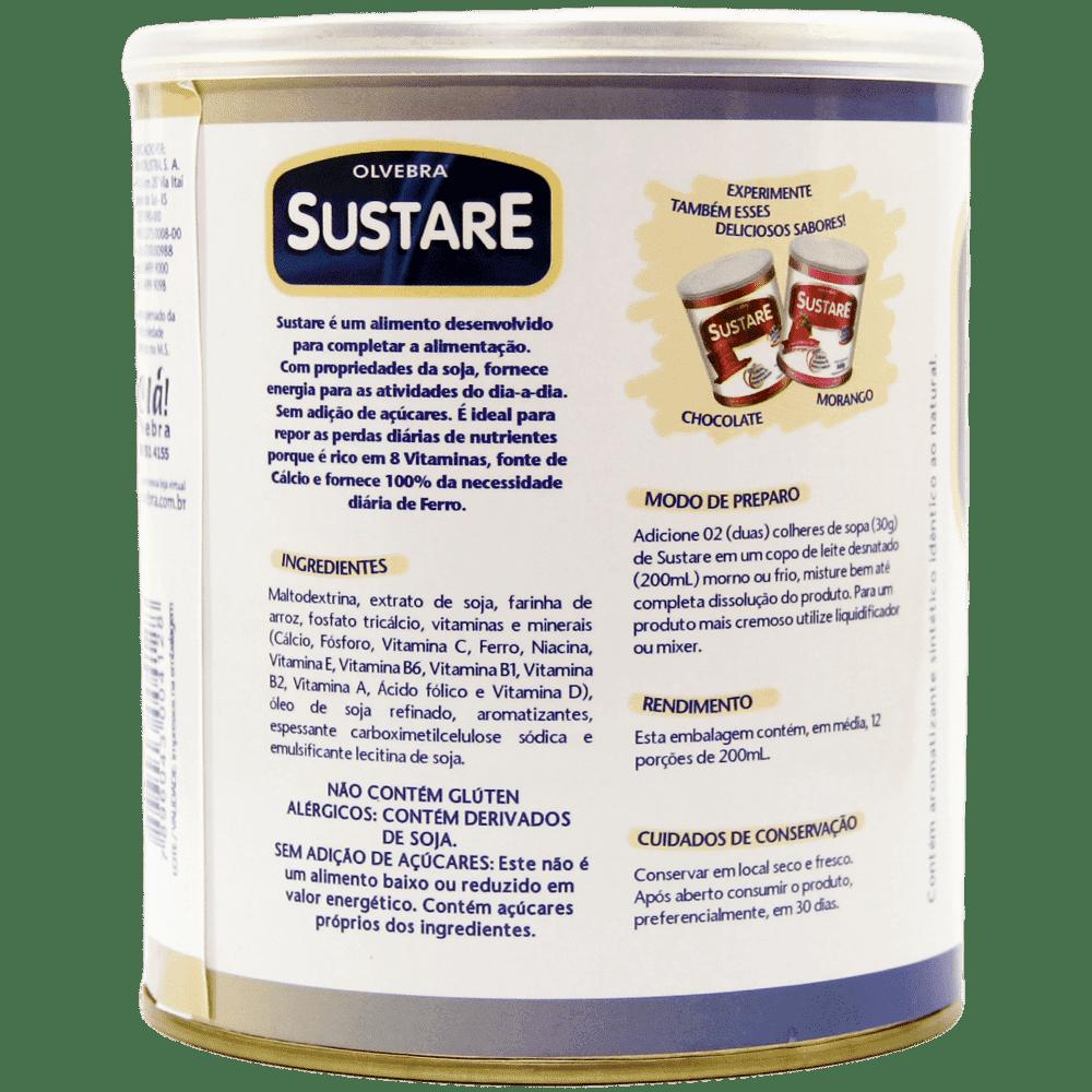 Sustare Baunilha 360g - Sem Açúcar