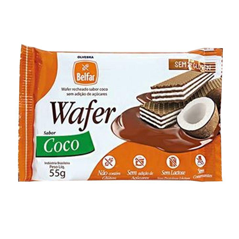 Wafer sabor Coco Belfar 50g