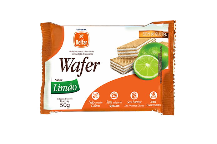 Wafer Sabor Limão Belfar 50g
