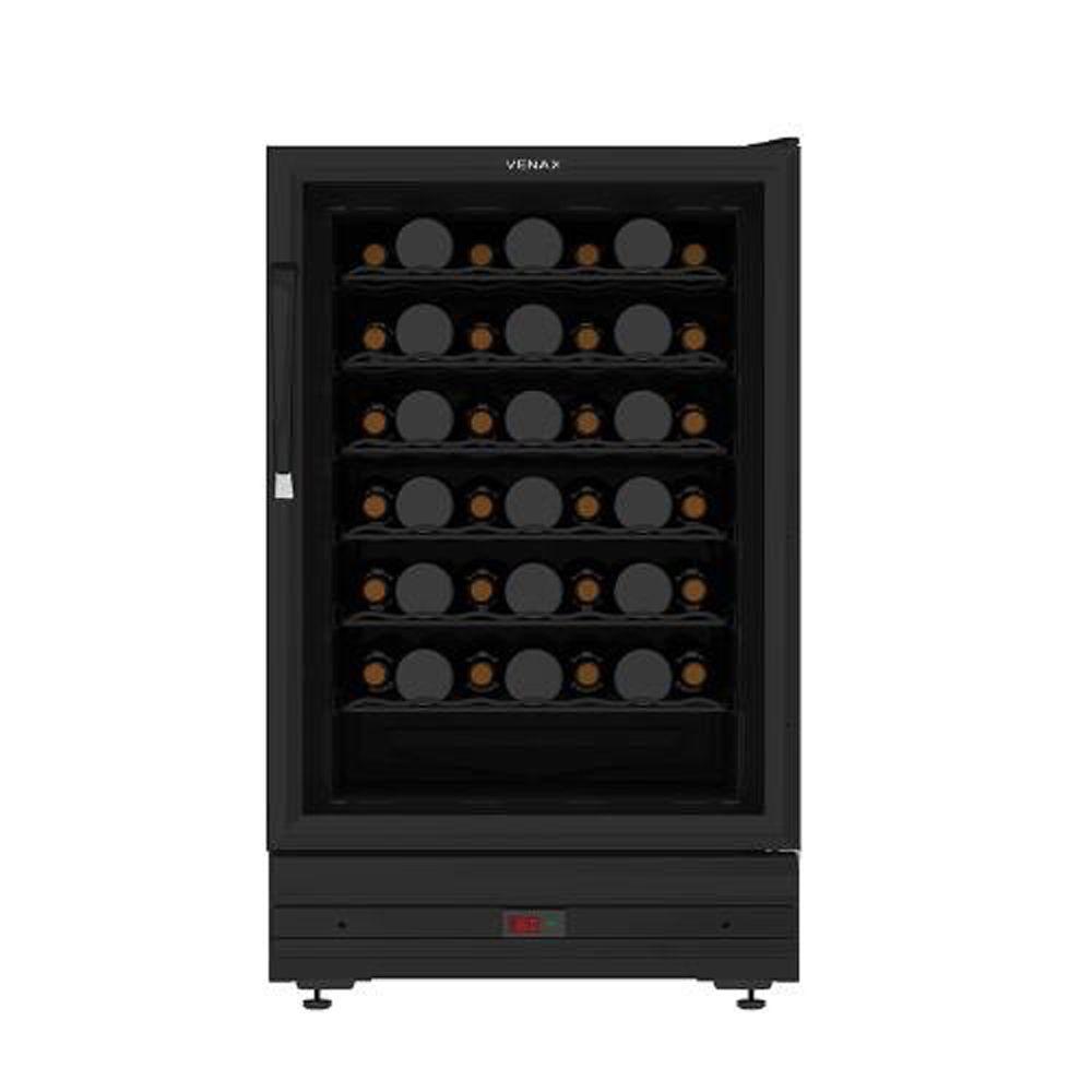 Adega De Vinho Venax Para 48 Garrafas 175L - Preto Fosco - 110V
