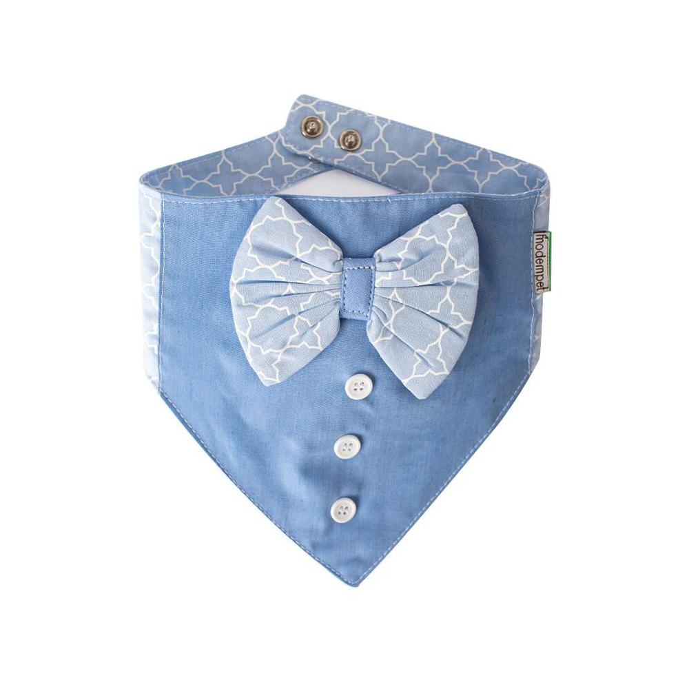 Bandana Modernpet Gravata Borboleta Azul Bebê para Cães