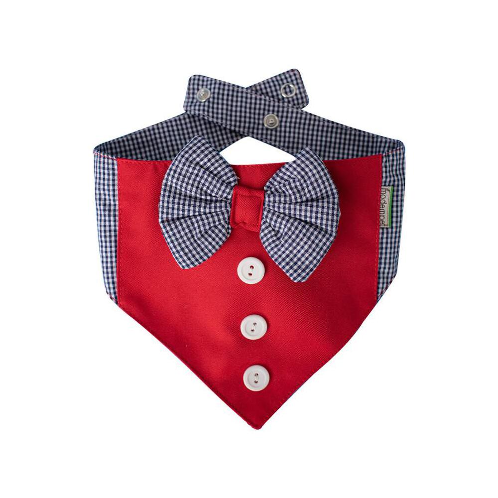 Bandana Modernpet Gravata Borboleta Vermelha para Cães