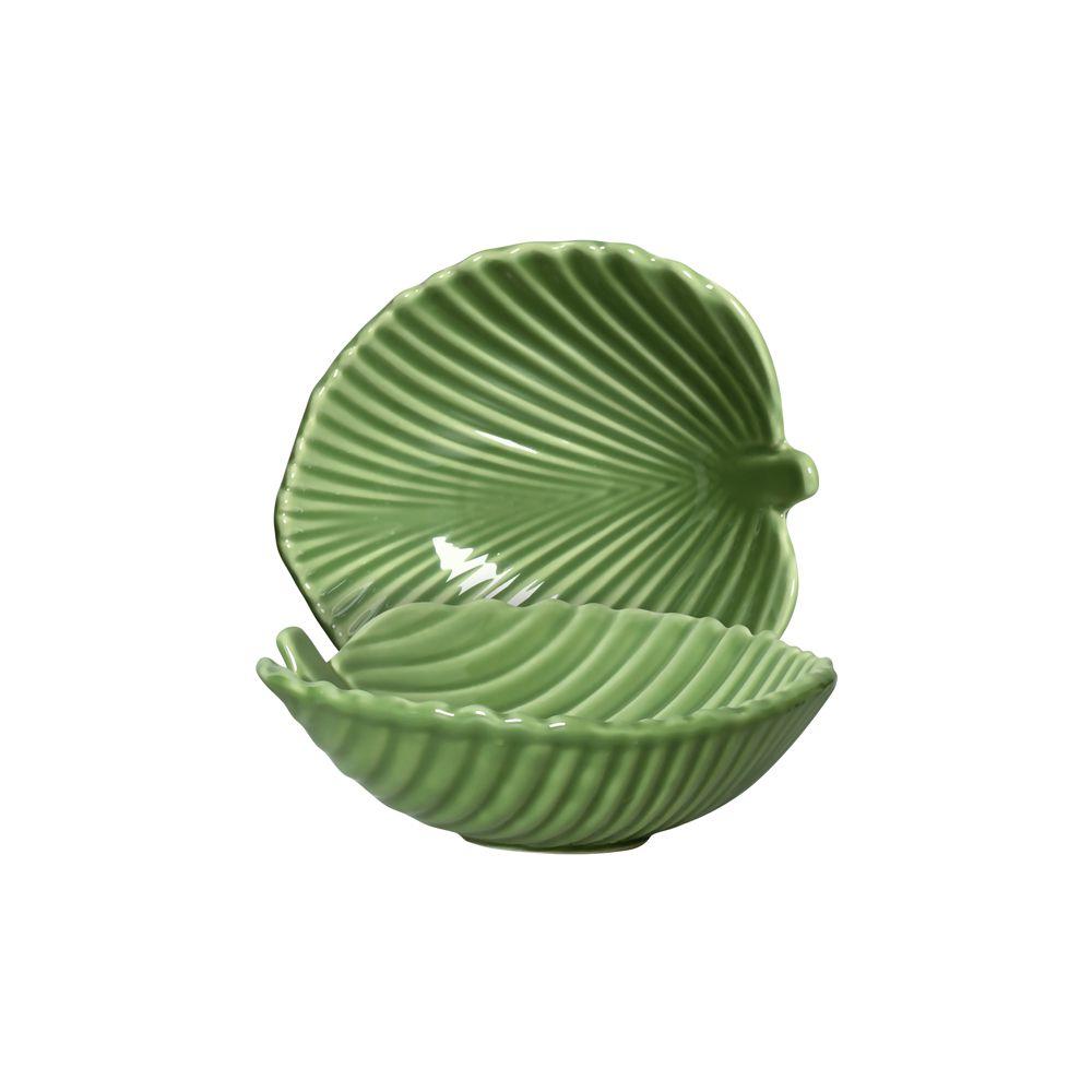 Bowl Leaves em Cerâmica - Conjunto De 6 Unidades - 420ml