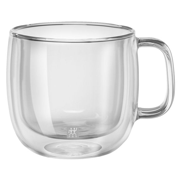 Caneca de Vidro de Parede Dupla para Cappuccino - Conjunto de 2 Unidades - 450ml