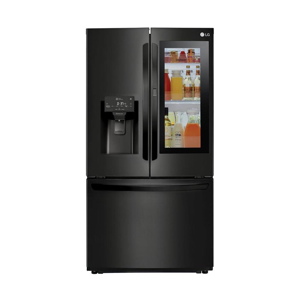 Geladeira Smart LG French Door Inverter 525 litros Preto fosco com Instaview Door-in-Door™ e Hygiene Fresh+™ - 127V