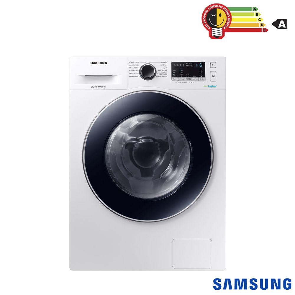 Lava e Seca 11Kg Samsung WD4000 com Ecobubble™, com 12 Programas de Lavagem, Branca - WD11M4453JW - 127V
