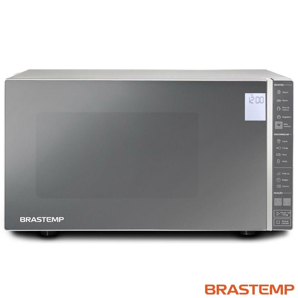 Micro-ondas Brastemp 32 Litros, Painel Integrado - Espelhado - BMS45CR - 110V