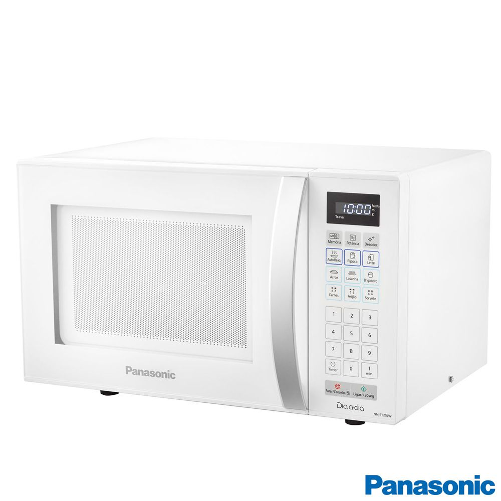 Micro-ondas Panasonic 21L Dia-a-Dia - Branco - NN-ST25JWRUN - 110V