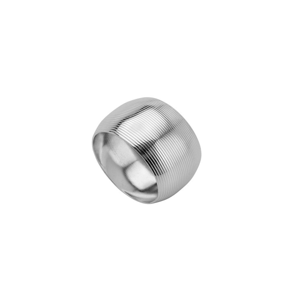 Porta Guardanapo De Aço Circle Niquelado - Conjunto De 4 Unidades -  Ø4,5cm