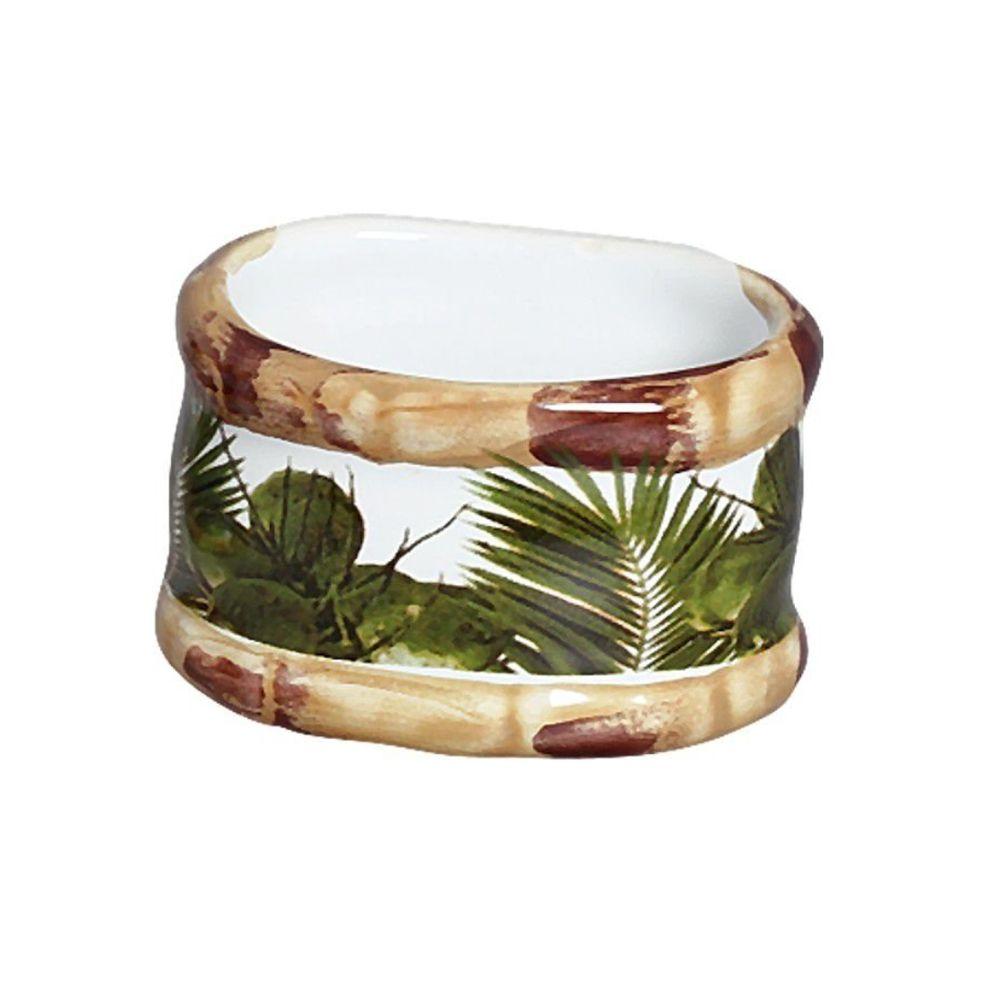Porta Guardanapo Trancoso Bambu Em Ceramica