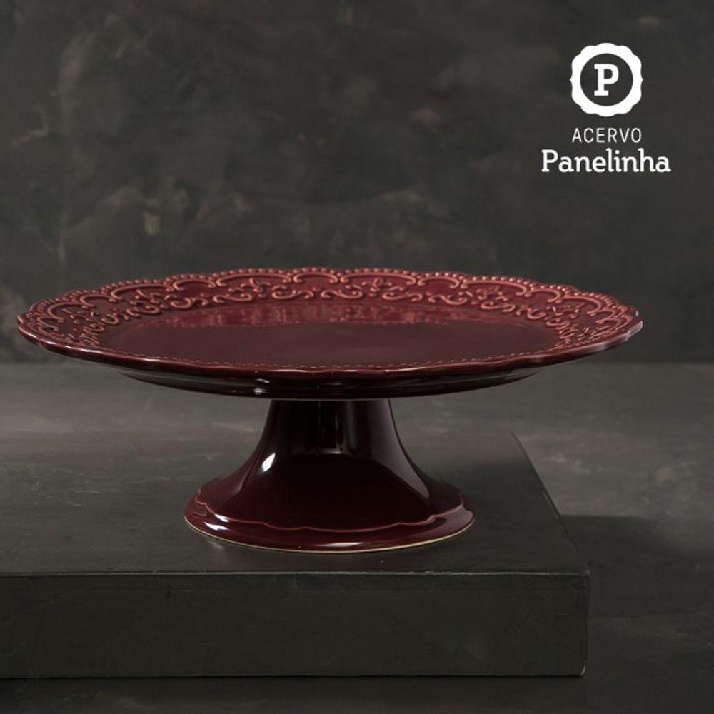 Prato De Bolo Passion Sumac Em Ceramica - Grande - Ø 37,0 cm