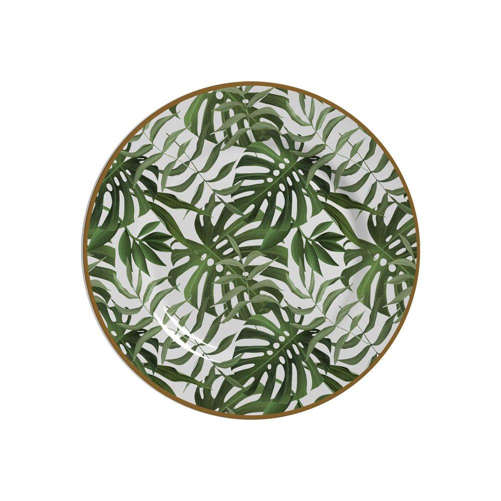 Prato de Sobremesa Amazonia Em Ceramica - Conjunto de 6 Peças