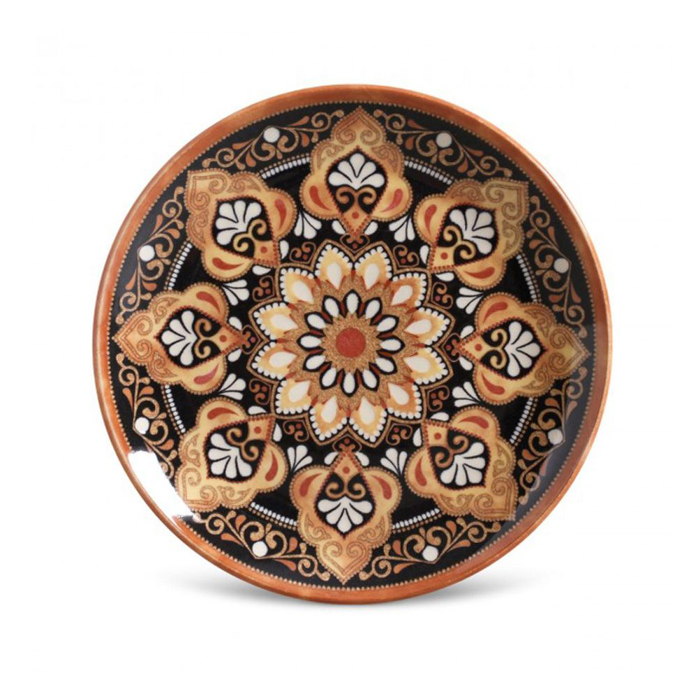 Prato De Sobremesa Damasco Em Ceramica - Conjunto De 6 Unidades