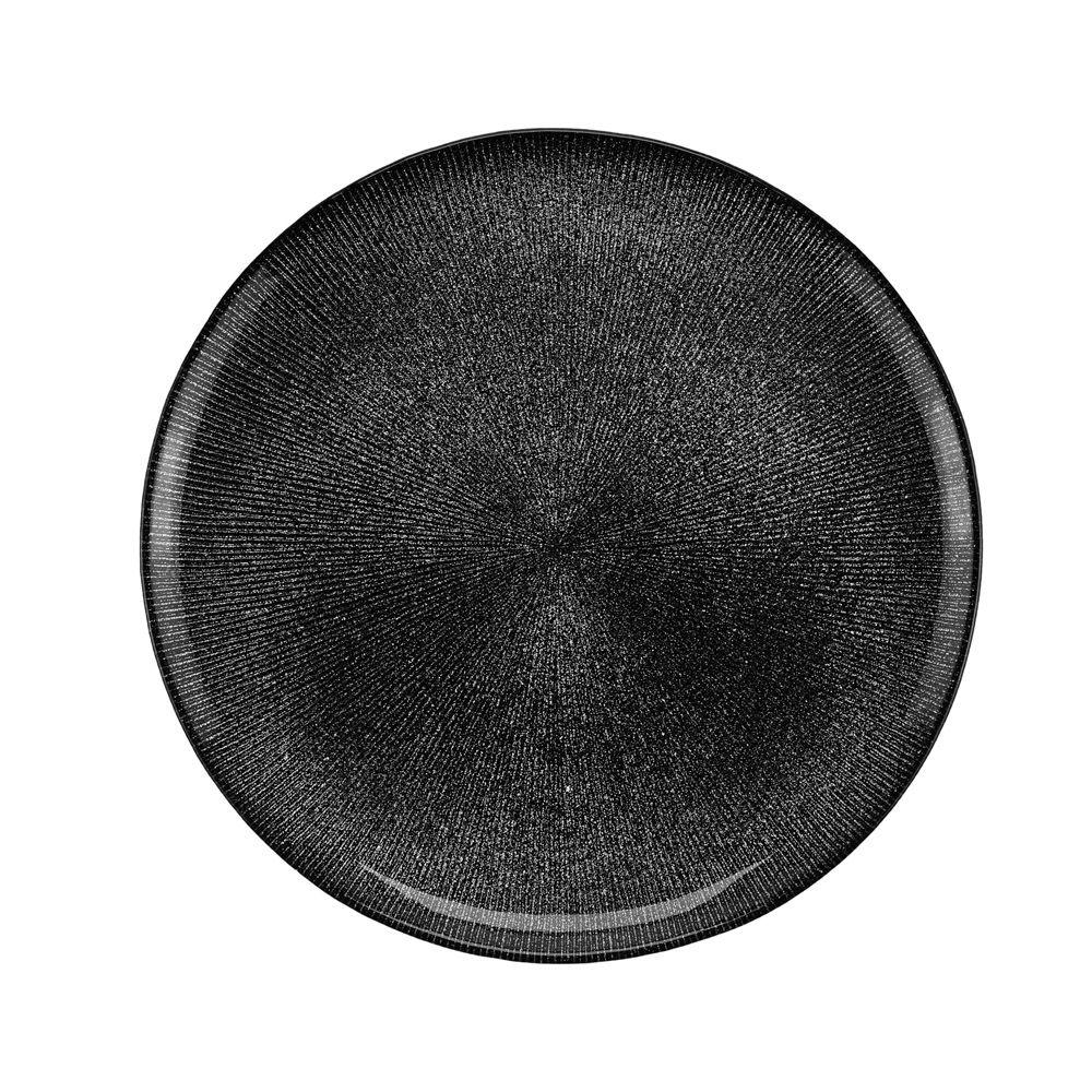 Prato de Sobremesa de Cristal Dots Preto