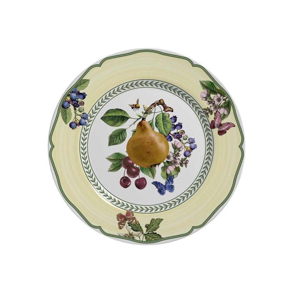 Prato de Sobremesa Fruits Em Ceramica - Conjunto de 6 Peças