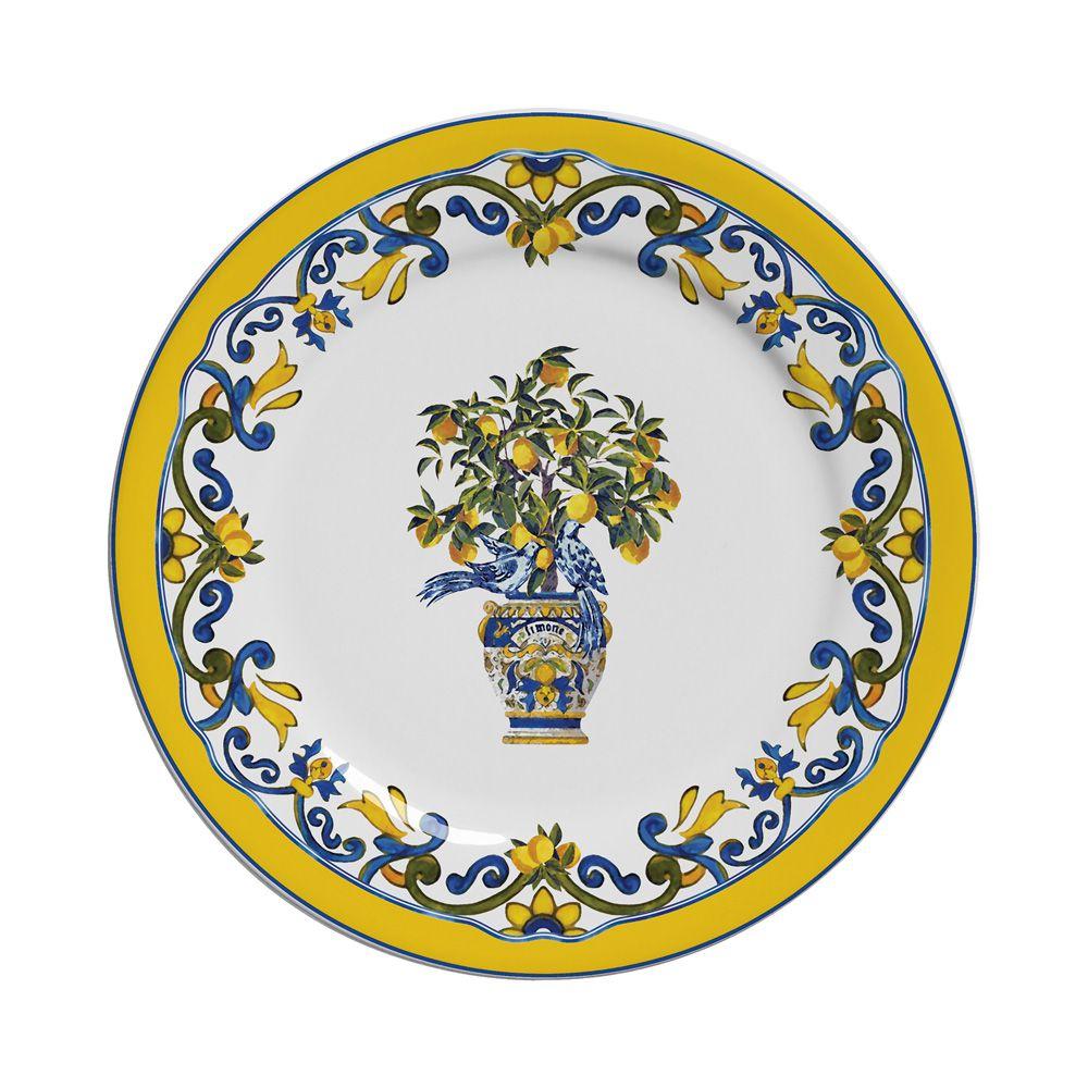 Prato de Sobremesa Limones em Cerâmica - Conjunto de 6 Unidades