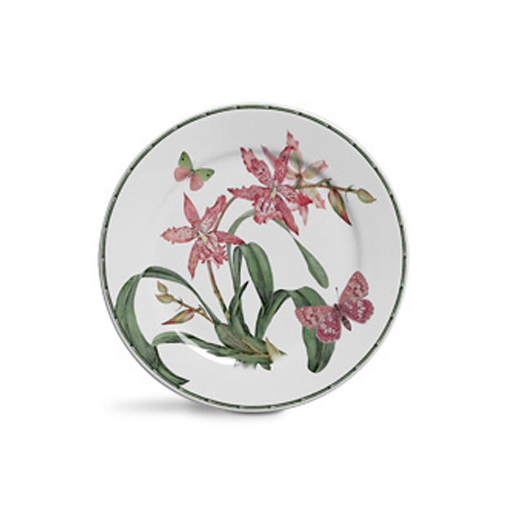 Prato de Sobremesa Orquidea em Cerâmica - Conjunto de 6 Unidades