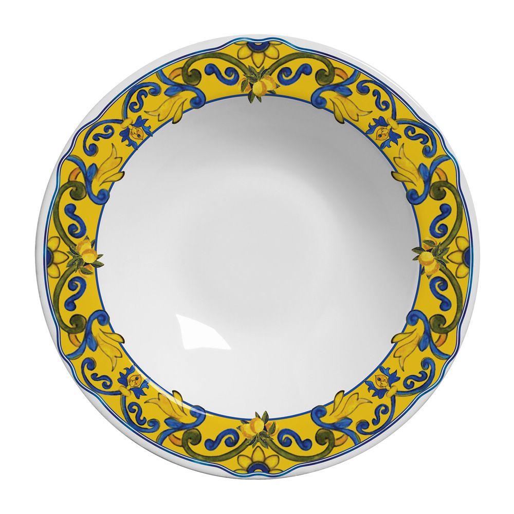 Prato Fundo Limones em Cerâmica - Conjunto de 6 Unidades