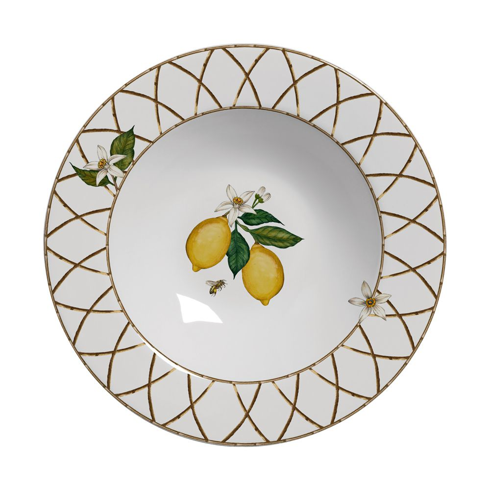 Prato Fundo Siciliano em Cerâmica - Conjunto de 6 Peças