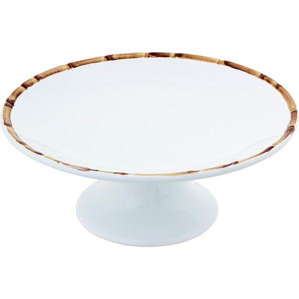 Prato para Bolo Bambu em cerâmica 11 x 27 cm
