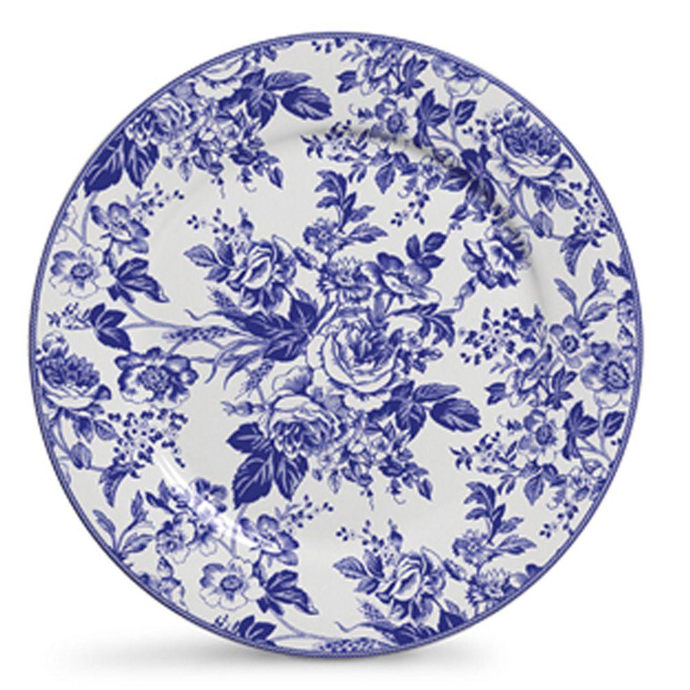 Prato Raso Blue Garden Em Ceramica - Conjunto De 06 Peças