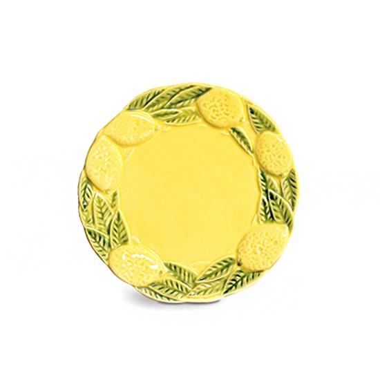 Prato Raso Limão em Cerâmica - 27 cm