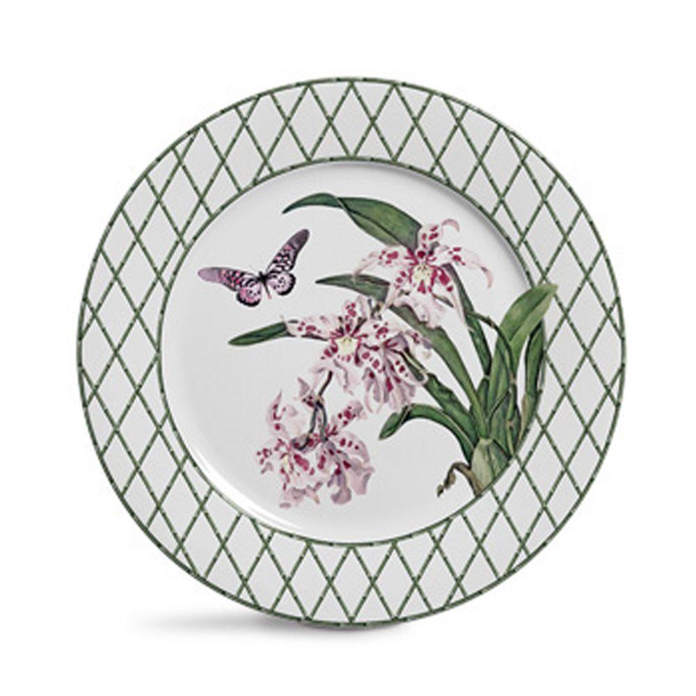 Prato Raso Orquidea em Cerâmica - Conjunto de 6 Unidades