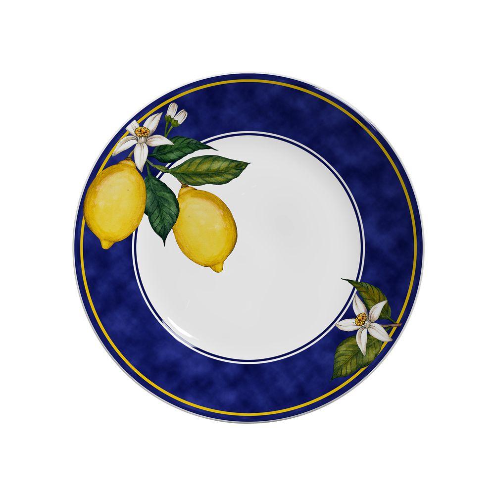 Prato Raso Sicilia em Cerâmica - Conjunto de 6 Unidades