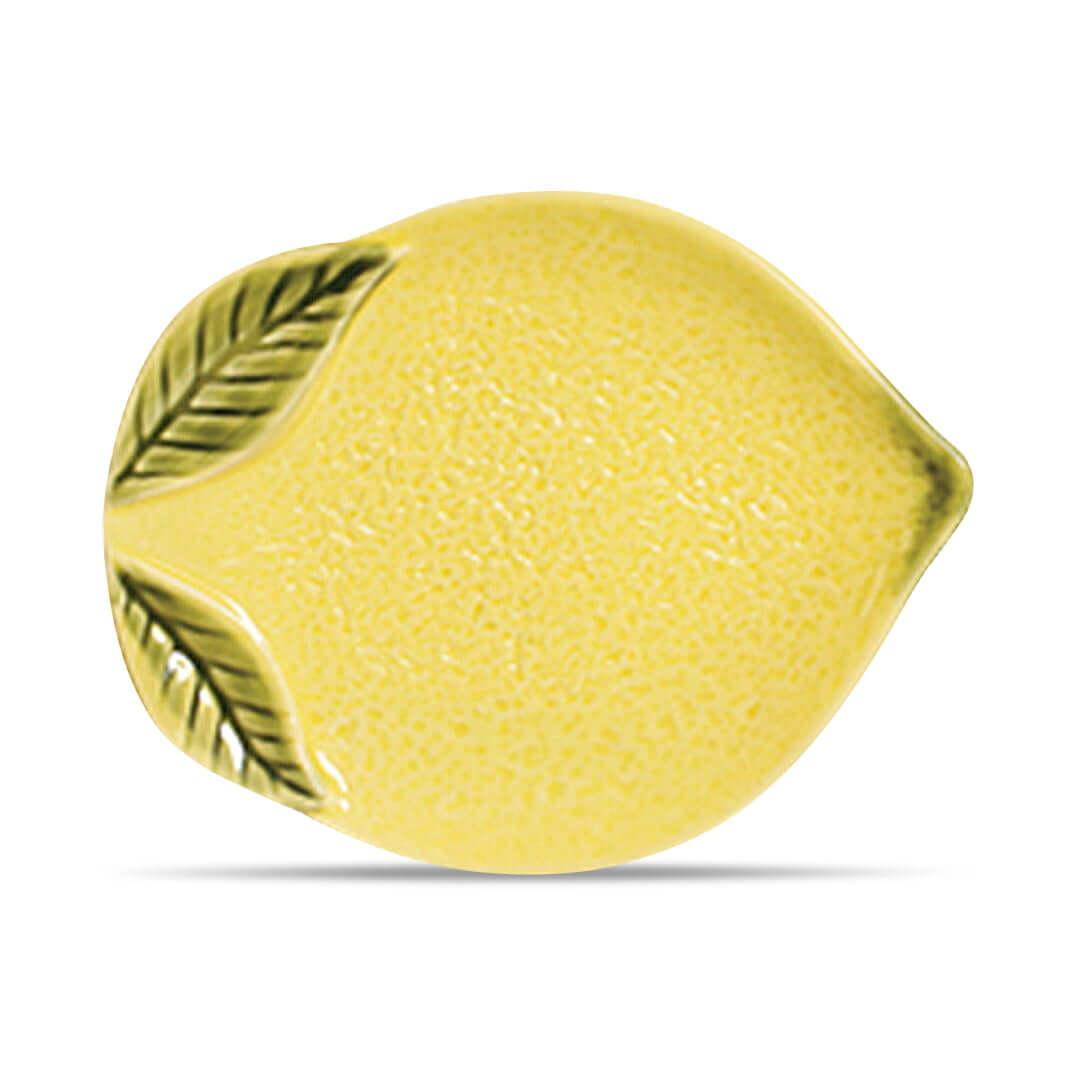 Prato Sobremesa Limão em Cerâmica - Un