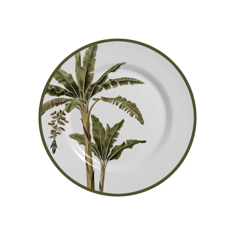 Pratos de Sobremesa Malibu Em Ceramica - Conjunto de 6 Peças