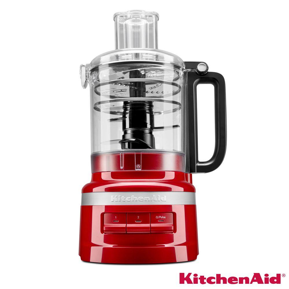 Processador de Alimentos KitchenAid 03 Velocidades, Capacidade 2,1 Litros e Múltiplas Funções - Empire Red - KJA09BV - 110V